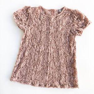 Chelsea28 Pretty Pink Lace Blouse